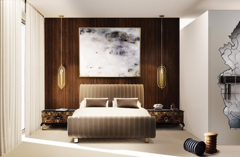 luxury lifestyle, room ideas, luxury design luxury design Modern and Luxury Design for Master Bedroom ideas Boca Do Lobo Guggenheim Nightstand Luxury Furniture Exclusive Design Bedroom Design