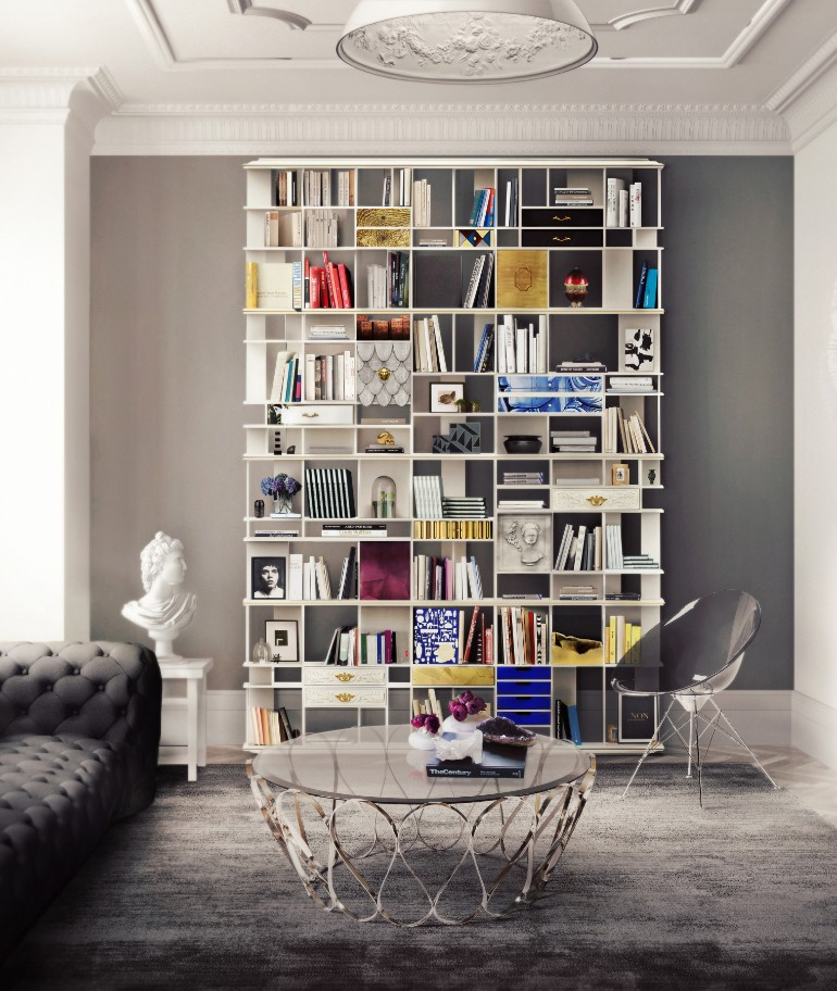 room design Master Bedroom Room Design Inspired In Mamma Mia coleccionista custom bookcase shelf 02