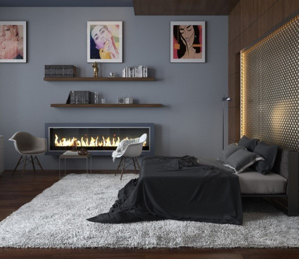 master bedroom, room ideas luxury design Modern and Luxury Design for Master Bedroom ideas masculine bedroom idea fireplace