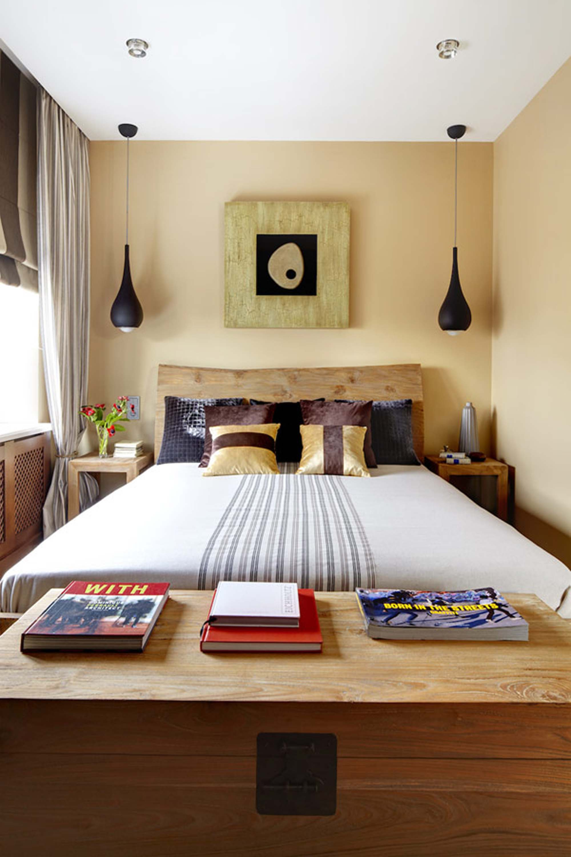 master bedroom Ideas For Decorating a Small Master Bedroom paint colors for outstanding small bedroom interior design and decoration with unique wooden furnitures big window also beige wall des bedroom with big window bedroom bedroom ideas pinterest lamp