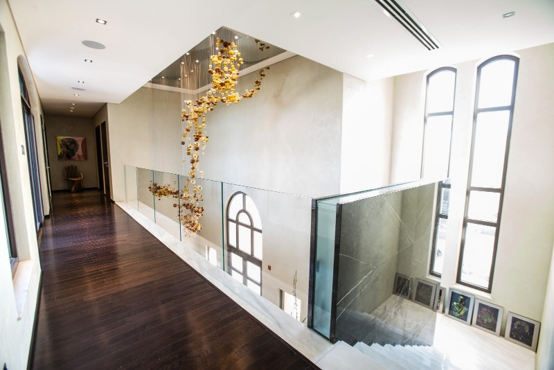 the Saadiyat VIP private residence projects, Classical piece, modern living room,