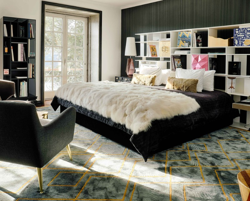 contemporary bedroom Design A Contemporary Bedroom with Diamond Collection of Boca do Lobo Design A Contemporary Bedroom with Diamond Collection of Boca do Lobo 3
