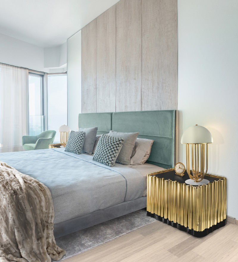 master bedroom, bedroom, décor ideas, luxury brand, nightstand, decorating tips, cosy bedroom, interior home design decorating tips 10 Top Decorating Tips For An Impeccably-Styled Bedroom symphony nightstand BL 1