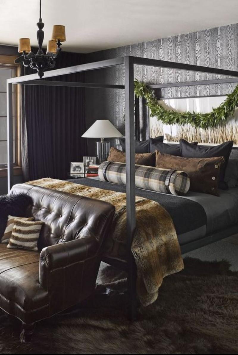 dark bedroom Dark Bedrooms Full of Finesse And Style Dark Bedrooms Full of Finesse And Style 10