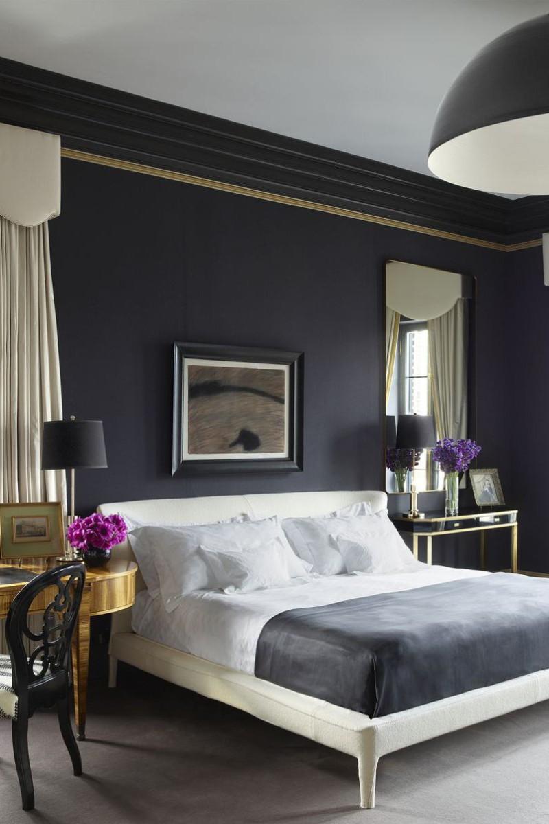 dark bedroom Dark Bedrooms Full of Finesse And Style Dark Bedrooms Full of Finesse And Style 2