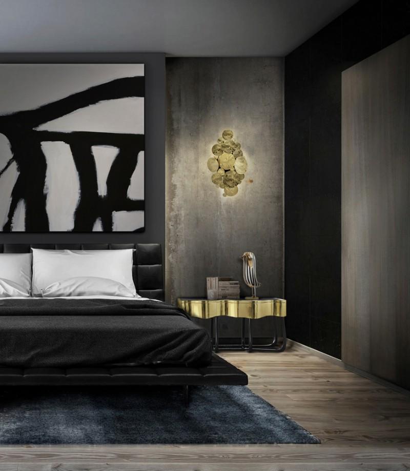 dark bedroom Dark Bedrooms Full of Finesse And Style Dark Bedrooms Full of Finesse And Style 3
