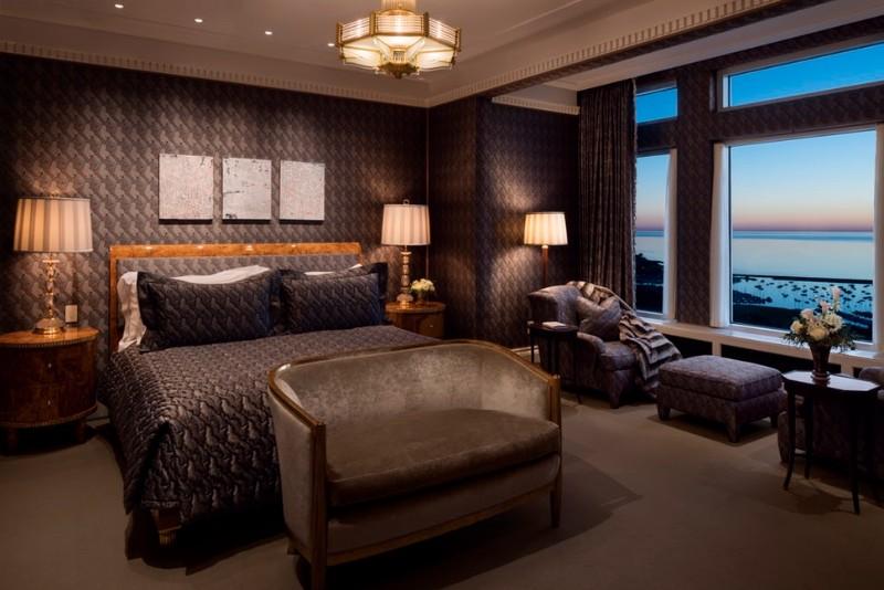 dark bedroom Dark Bedrooms Full of Finesse And Style Dark Bedrooms Full of Finesse And Style 4