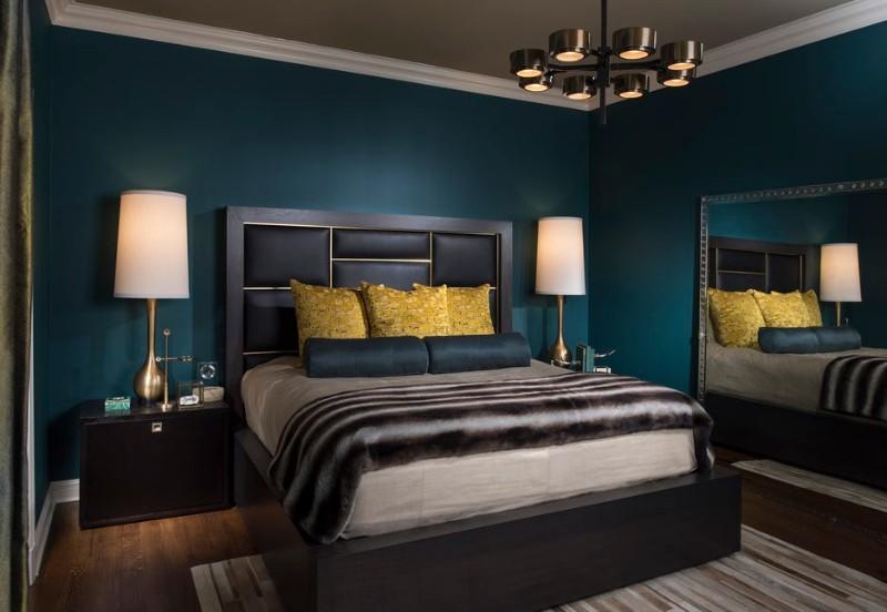 dark bedroom Dark Bedrooms Full of Finesse And Style Dark Bedrooms Full of Finesse And Style 6