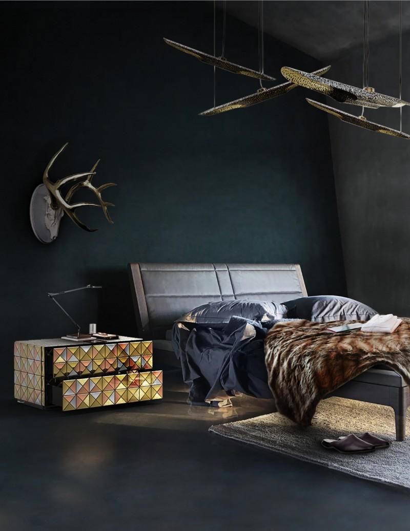 dark bedroom Dark Bedrooms Full of Finesse And Style Dark Bedrooms Full of Finesse And Style 8