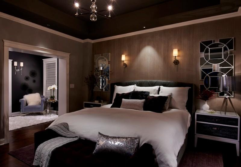 dark bedroom Dark Bedrooms Full of Finesse And Style Dark Bedrooms Full of Finesse And Style 9