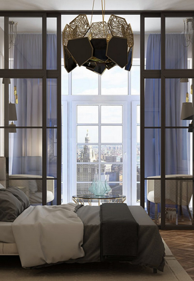 bedroom ideas Modern Bedroom Ideas For Dignified Nights Of Rest hypnotic chandelier koket