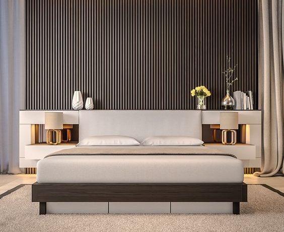 beautiful bedroom designs 50 Beautiful Bedroom Designs Found on Pinterest Ultra modern bedroom with mid century feel 1 564x460