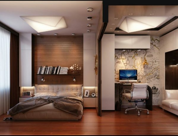 masculine bedroom designs Contemporary Masculine Bedroom Designs to Inspire You Studioapartmentbedroominteriordesignhompassion 600x460