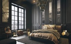 dark bedroom Dark Bedroom Inspiration for A Good Nights Sleep classical dark bedroom style 1 240x150