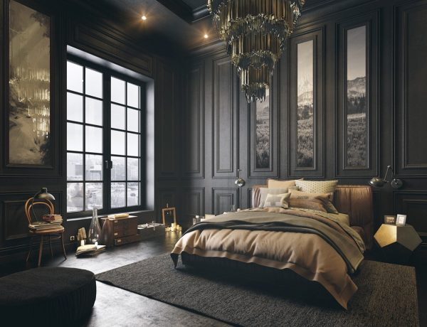 dark bedroom Dark Bedroom Inspiration for A Good Nights Sleep classical dark bedroom style 1 600x460