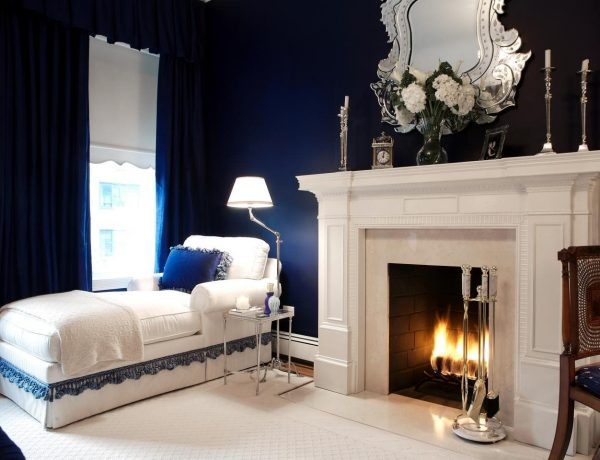 bedroom lighting ideas Amazing Bedroom Lighting Ideas You Will Want To Copy duneier traditional navy bedroom is also a kind of navy blue bedroom furniture 600x460