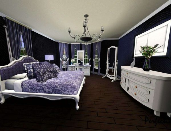 White Black and Purple Bedrooms – Master Bedroom Ideas