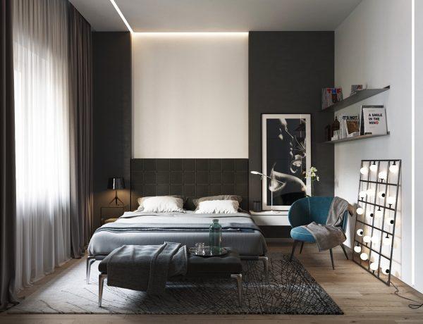 master bedroom Black & White Stunning Master Bedroom Designs unnamed file 6 600x460