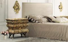 master bedroom Stunning Master Bedrooms with Gold Accents Crochet Nightstand Boca do Lobo 240x150