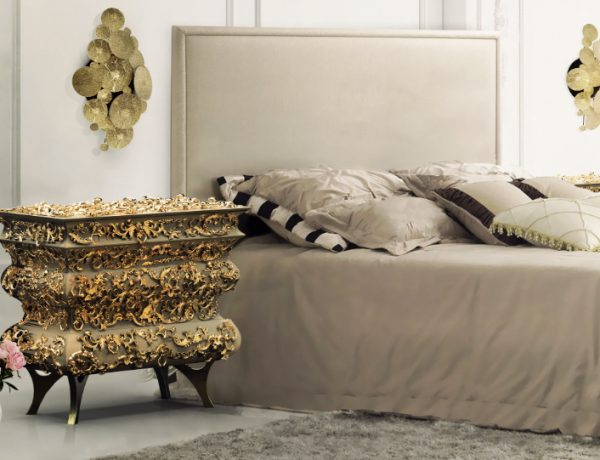 master bedroom Stunning Master Bedrooms with Gold Accents Crochet Nightstand Boca do Lobo 600x460