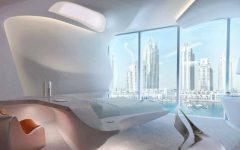 zaha hadid Modern Bedroom Inspirations by Zaha Hadid ME Dubai Hotel Bedroom Zaha Hadid luxury bedroom hotel design master bedroom ideas 1 240x150