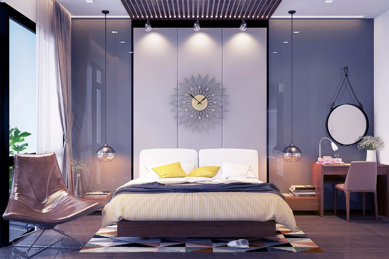grey master bedrooms with a glimpse of color master 12562 | ultra modern grey bedroom design ideas inspirations bed shining bedroom lighting interior design home decor