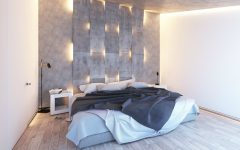 lighting design Stunning Bedrooms with Unique Lighting Designs concrete walls lighting design ideas master bedroom design modern bedrooms inspiration 1 240x150
