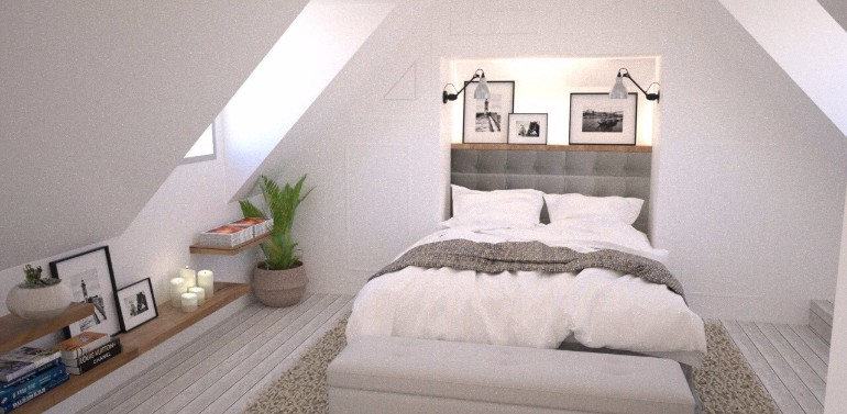 small loft bedroom ideas - Loft Interiors With Marvelous Bedrooms – Master Bedroom Ideas