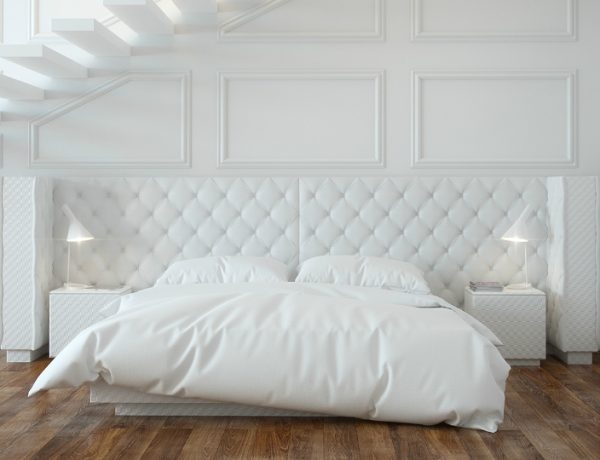 white bedroom 10 Calm and Charming All White Bedrooms modern all white bedroom design ideas bedroom inspiration design concept all white bedroom design 1 600x460