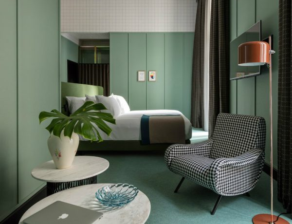 patricia urquiola Milan Hotel Project by Patricia Urquiola patricia urquiola hotel bedroom design inspiration ideas modern bedroom decor master bedroom design green shades pretty bedroom 1 600x460