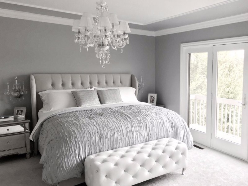 10 calm and charming all white bedrooms master bedroom ideas 14696 | white bedroom inspiration gorgeous chandelier modern bedroom decor master bedroom design inspiration ideas