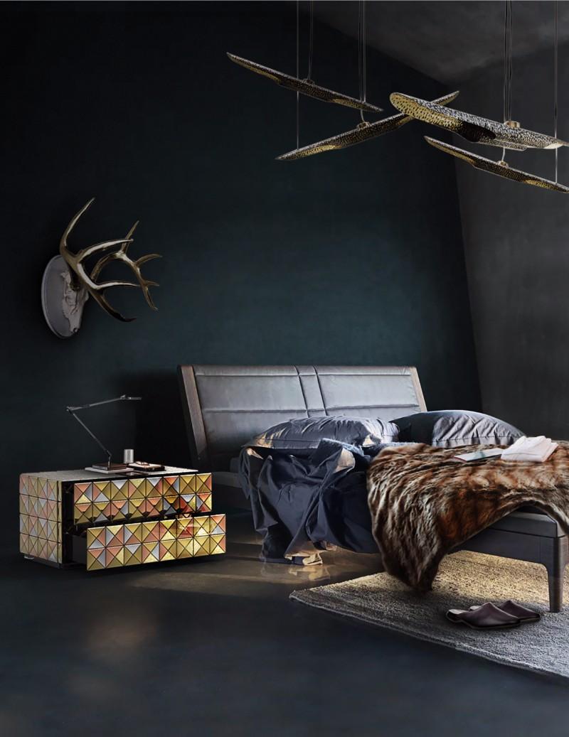 dark bedroom Elegance & Luxury with Dark Bedroom Designs Boca Do Lobo Pixel Nightstand Luxury Furniture Exclusive Design Bedroom