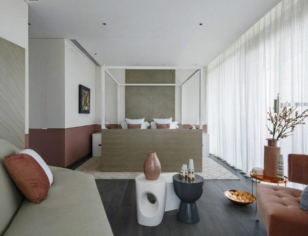 neutral bedroom 10 Smooth Neutral Bedrooms by Famous Interior Designers Charming Contemporary Bedroom in China by Kelly Hoppen Interiors 2 600x460