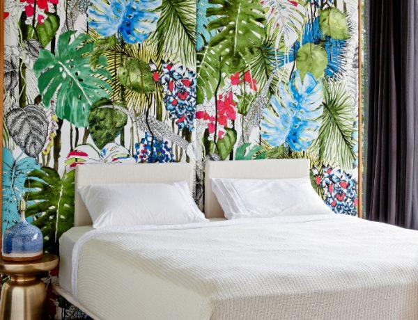 design wallpaper Design Wallpaper Ideas for Modern Master bedrooms Design Wallpaper Ideas for Modern Master bedrooms contemporary tropical colors 600x460