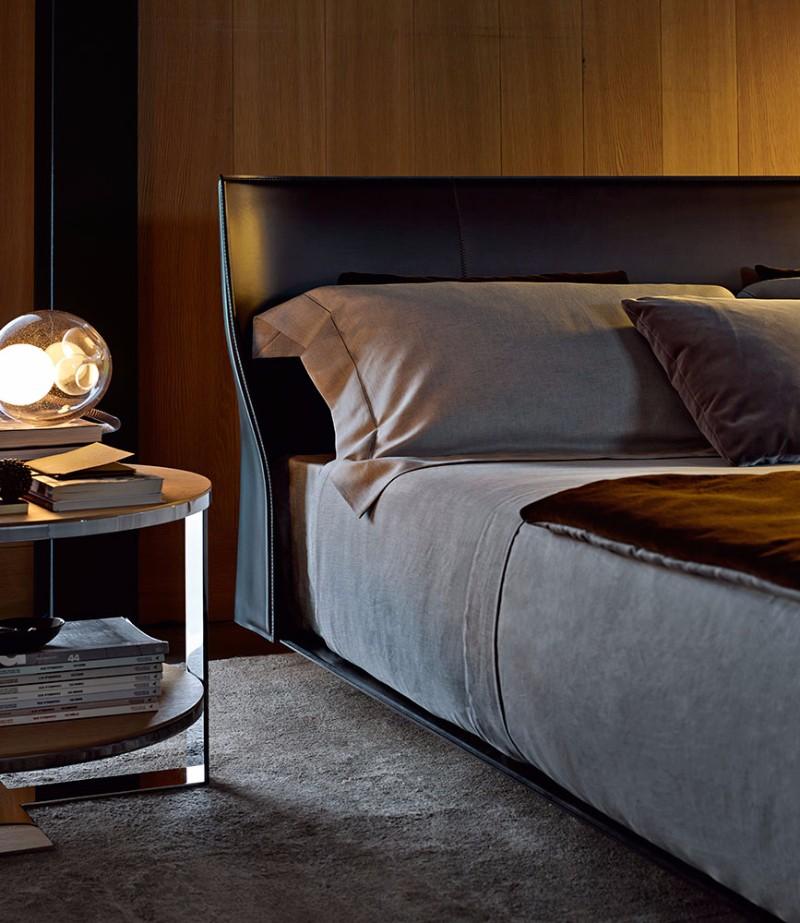 dark bedroom Elegance & Luxury with Dark Bedroom Designs Elegant curvy bed master bedroom ideas modern bedroom design inspiration