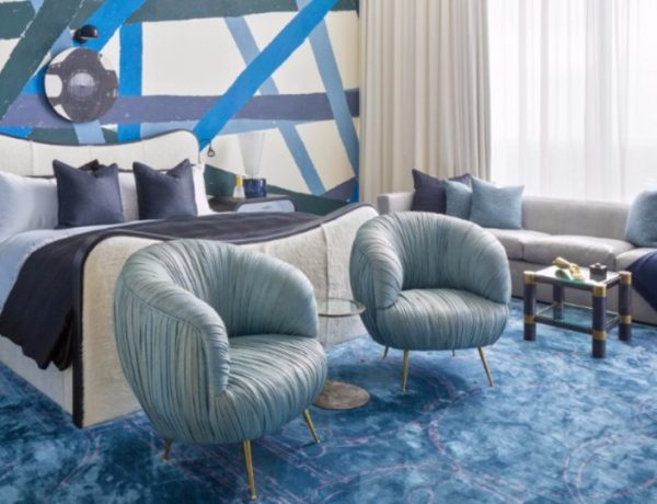 10 Charming Navy Blue Bedroom Ideas blue bedroom 10 Charming Navy Blue Bedroom Ideas Kelly Wearstler Austin Residence Master Bedroom Design Inspiration Ideas Luxurious Home Decor 1 1 600x460