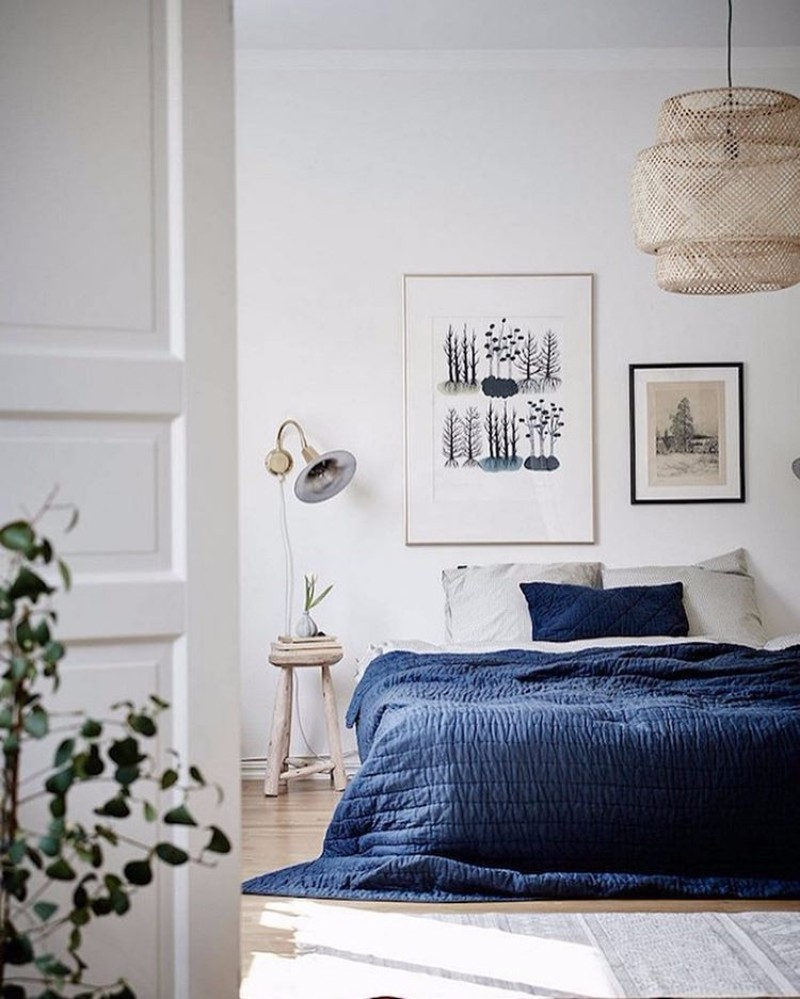 10 charming navy blue bedroom ideas master bedroom ideas 16500 | navy blue master bedroom design ideas modern bedroom inspiration