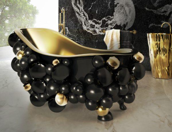 master bathroom Luxurious Homes with Exceptional Master Bathrooms Newton Bathtub By Boca Do Lobo 1 600x460