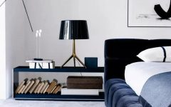 modern nightstand Top 15 Modern Nightstands Found on Pinterest gorgeous blue nightstand design for modern master bedroom inspiration ideas 1 240x150