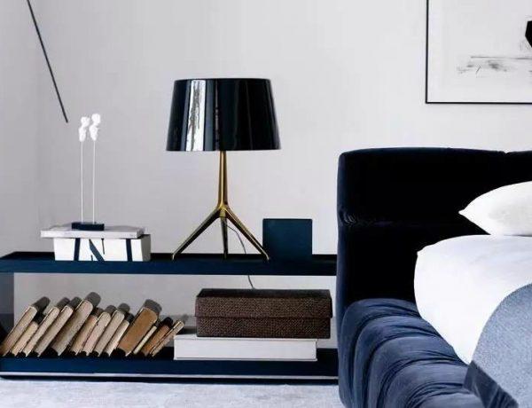 modern nightstand Top 15 Modern Nightstands Found on Pinterest gorgeous blue nightstand design for modern master bedroom inspiration ideas 1 600x460