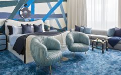 blue bedroom 48 Soothing Blue Bedroom Designs To Inspire You Blue Bedroom Design by Kelly Wearstler 240x150