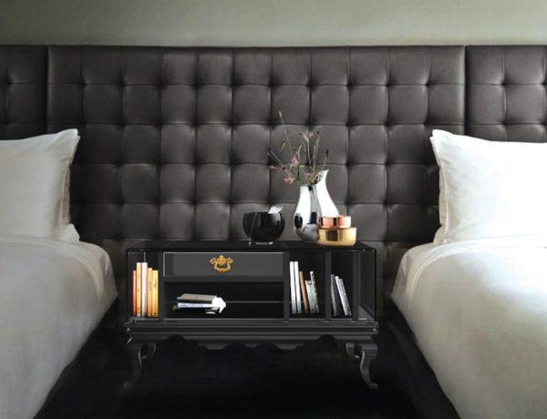 master bedroom Discover Boca do Lobo's Master Bedroom Collection Boca Do Lobo Tower Nightstand Luxury Furniture Exclusive Design Black Nightstand Bedroom design 1 600x460