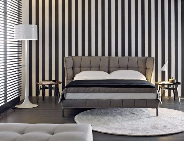 bb italia 12 Astonishing Bed Designs by BB Italia Husk Bed by BB Italia Contemporary black white grey master bedroom inspiration ideas modern bedroom design 600x460