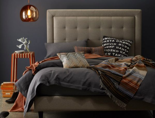 upholstered bed 10 Fabric Ideas For Modern Upholstered Beds australian wool modern master bedroom ideas upholstered beds 600x460