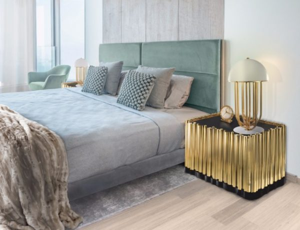 master bedroom trends Get Inspired with these 10 Master Bedroom Trends Boca Do Lobo Symphony Nightstand Luxury Furniture Exclusive Golden Nightstand Design 600x460