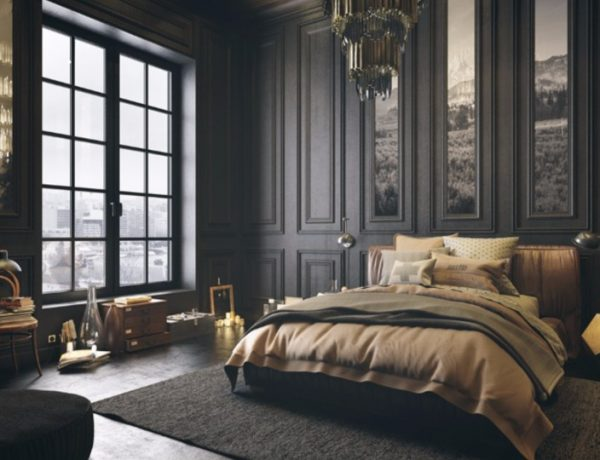Mystery & Charm with 10 Black Bedrooms black bedroom Mystery & Charm with 10 Black Bedrooms black bedroom design ideas art decor modern bedroom design master bedroom decor 1 600x460