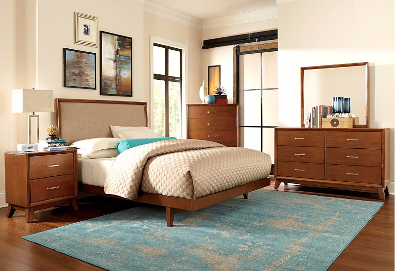 10 master bedrooms in mid century modern style master 12498 | colorful mid century modern bedroom colorful rug modern furniture design