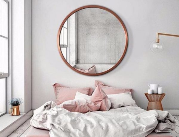 mirror in bedroom 10 Ideas for Placing a Mirror in Bedroom mirror bedroom worn flooring pink tones grey scales bedroom inspiration ideas 600x460
