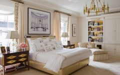 transitional style 10 Refined Transitional Style Master Bedrooms transitional ny bedroom apartment cullmankravis cream tones golden chandelier 240x150