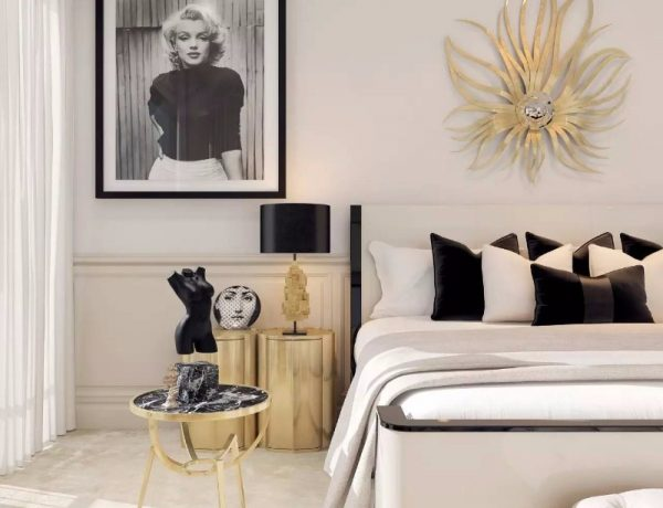 master bedroom 10 Master Bedrooms with Gold Accent Décor golden bedroom design ideas modern master bedroom decor 600x460
